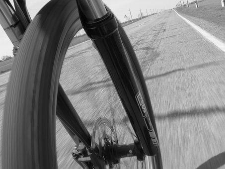 Bike, Driving, Speed, Shock Absorber, Bicycle, Road