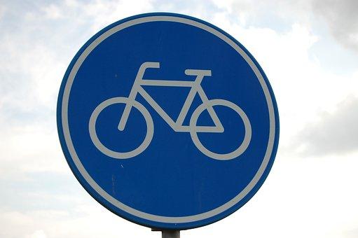 Road Sign, Bike Path, Bicycle, Board