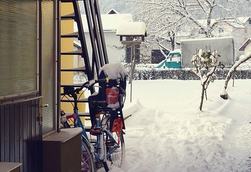 Bike, Bicycle, Snow, Cycling, Cold, Outdoors