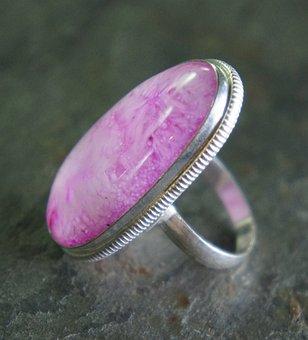 Pink, Quartz, Agate, Crystal, Large, Big, Sterling
