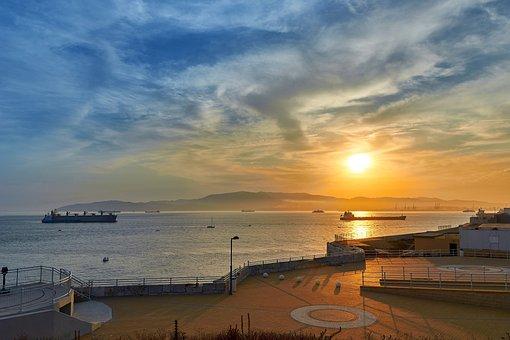 Sunset, Booked, Sea, Mood, Abendstimmung, Sky, Nature
