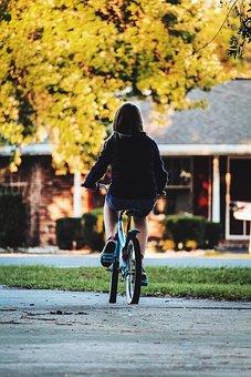 Ride, Cycle, Bike, Bicycle, Kid, Childhood, Neighbor