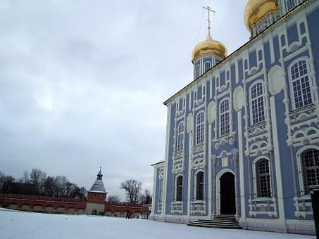 Temple, Church, Christianity, Religion, Sky, Russia