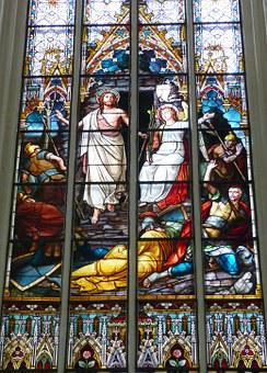 Church, Image, Stained Glass, Window, Historically
