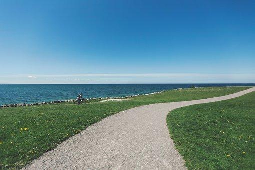 Gravel, Trail, Path, Grass, Cyclist, Cycling, Bike