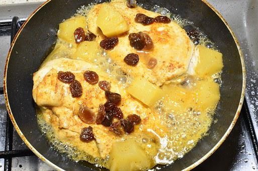Fry, Bake In A Pan, Chicken Breasts, Dinner, Fat