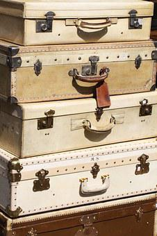 Suitcases, Traveling, France, Paris, Saint-ouen Market