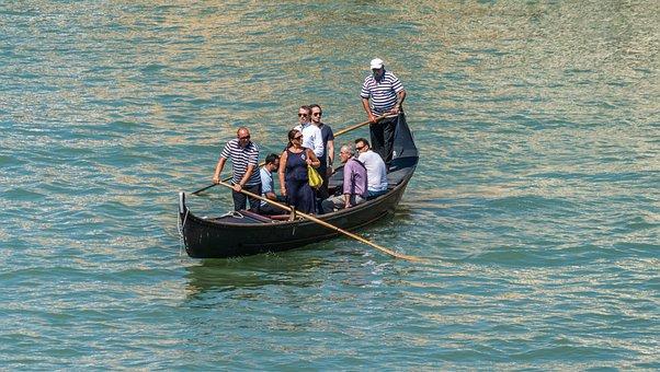 Gondola, Venice, Italy Water, People, Person, Gondolier