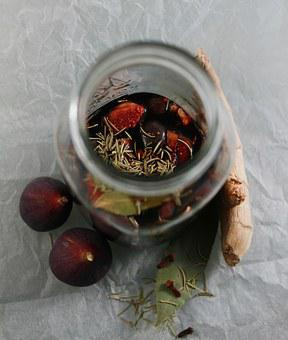 Fig, Ginger, Herbal, Herbs, Rosemary, Vinegar