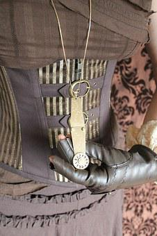 Steampunk, Jewellery, Jewelry, Corset, Brown, Fashion