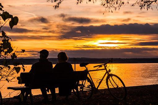 Sunset, Lake Constance, Water, Lake, Sun, Sky, Romantic