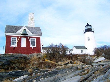 Maine, Historical, Tourism, Scenery, Lighthouse, Sky