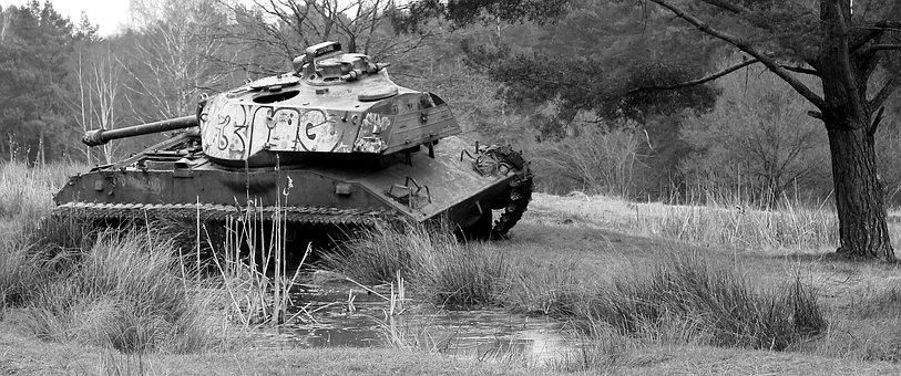 Siegfried Line Aachen, Military Training Area, Old Tank
