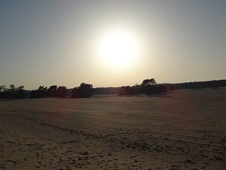 Nature, Netherlands, View, Landscape, Sunset, Air