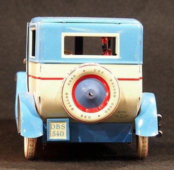 Tin Car, Toy, Old, Vintage, Vehicle, Childhood, Retro