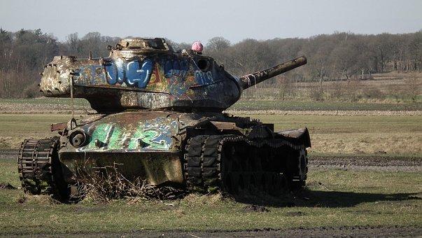 Panzer, Cannibalized, Military Vehicle, Vehicle