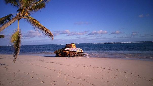 Flamenco Beach, Puerto Rico, Panzer