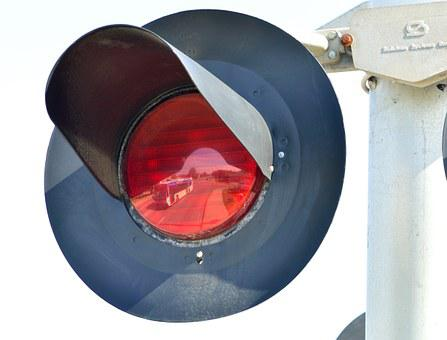 Train Signal, Reflection, Bus, Warning Light, Red Color