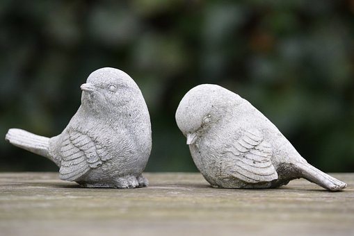 Birds, Decoration, Figurines, Rejection, Quarrel