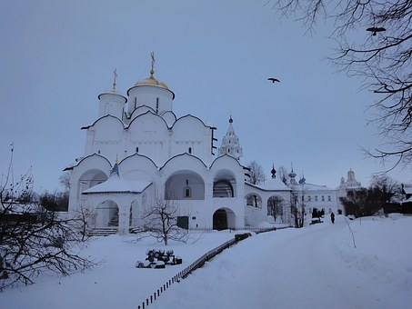 Suzdal, Winter, Temple, Church, Snow, Dome, Russia