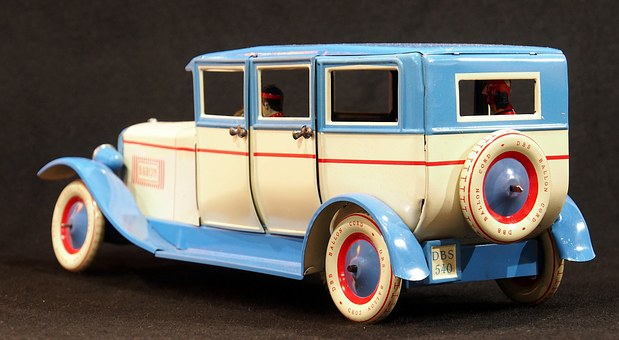 Tin Car, Toy, Old, Vintage, Vehicle, Childhood, Retro