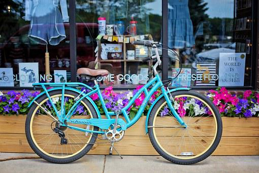Vintage Bicycle, Bike, Turquoise Bike, Classic, Retro