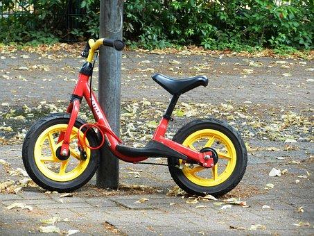 Bike, A Motorcycle, Children, Wheel, By Bike, Spokes