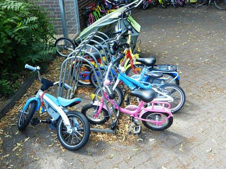 Bike, Bicycles, A Motorcycle, Children, Wheel, By Bike
