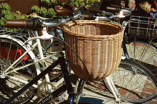 Basket, Bicycle, Bike, Rattan, Retro, Vintage, Bikes