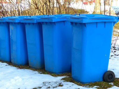 Dustbin, Paper Wheelie Bin, Blue Tonne, Blue