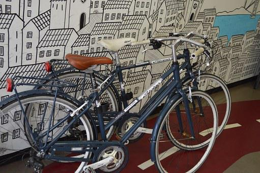 Cycling, Bicycle Shop, Shop, City, Art, Bike Path