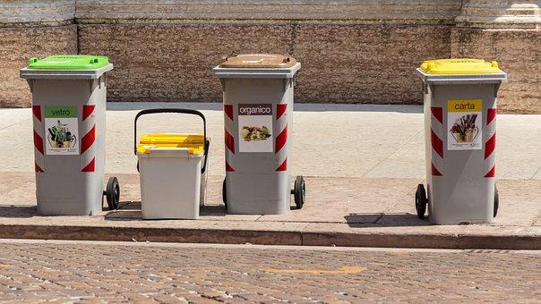 Garbage, Mülltonnen, Ton, Colorful, Disposal