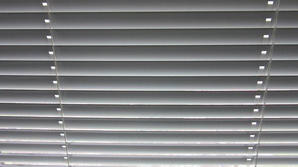 Venetian Blinds, Sun Visor, Stripes, Grey, Course