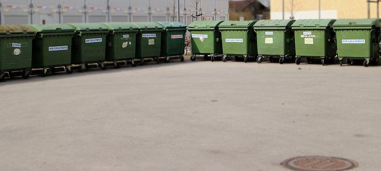 Disposal, Garbage, Dustbin, Paper Wheelie Bin