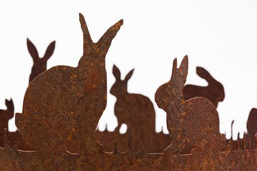 Easter, Easter Bunny, Hare Ring, Laser Cut, Metal