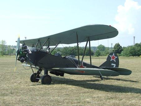 Aircraft, Airport, Po-2, Radial Engine, Fighter Plane