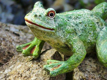 Frog, Gartendeko, Fig, Pond, Decoration, Froschdeko