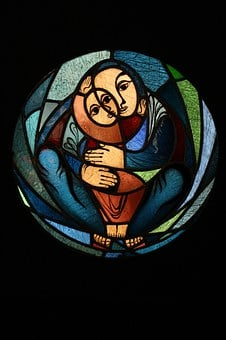Glass Window, Kevin Schneider-lang, Mother With Child