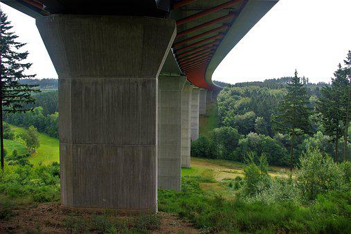 Bridge, Highway, Traffic, Road, Highway Bridge, Germany
