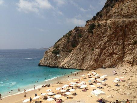 Turkey, Seaside, Kalkan, Beach, Holidays, Vacation