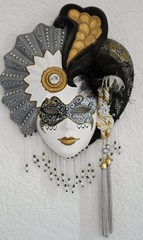 Venetian, Masks, Italy, Venezia, Headdress, Annually