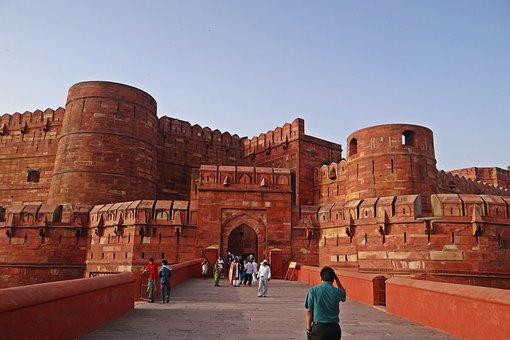 Agra Fort, Unesco Heritage Site, Castle, Main Entrance