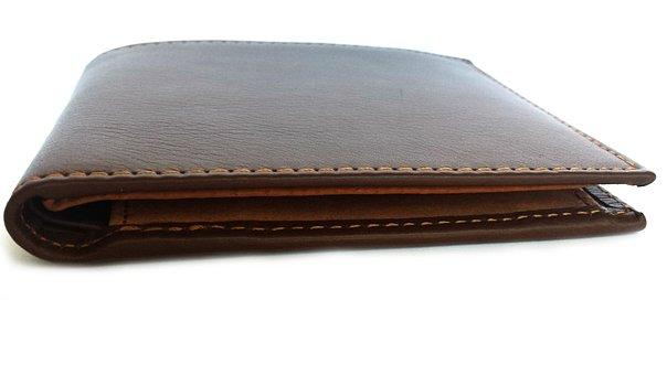 Portfolio, Wallet, Leather, Brown, Money