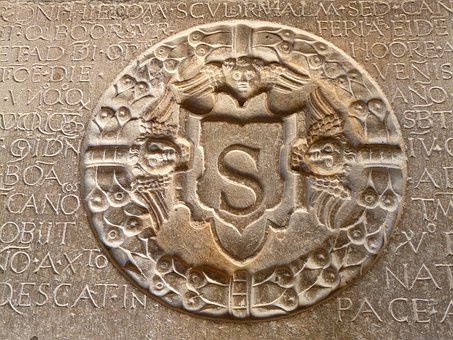 Bottom Plate, Steinplatte, Ornament, Seal, Coat Of Arms