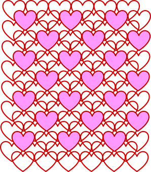 Valentine's Day, Valentine, Hearts, Love, Outline