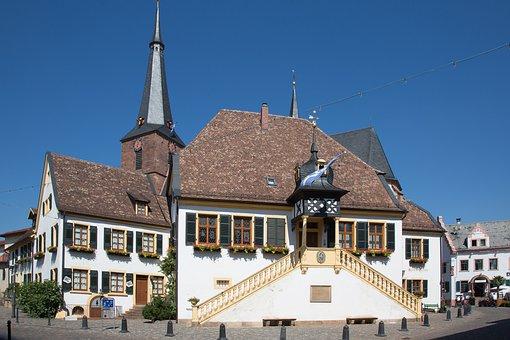 Deidesheim, Town Hall, Palatinate, Wine Village