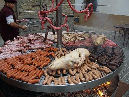 Food, Roast, Pig, Sausage, Longanizas