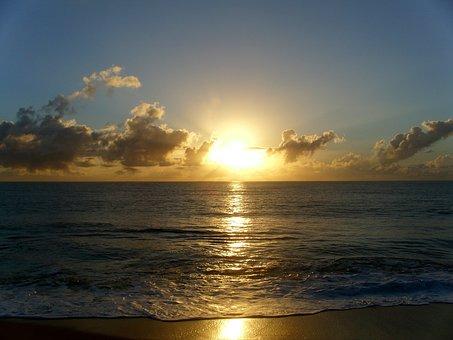 Bahia, Sky, Landscape, M, Mar, Beach, Sunrise