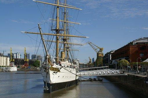 Fragata, Museum, Ship, Sky, Nautical, Sailing, Wooden