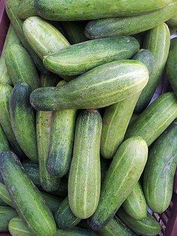 Cucumber, Green Cucumber Basket, Pile, Stack